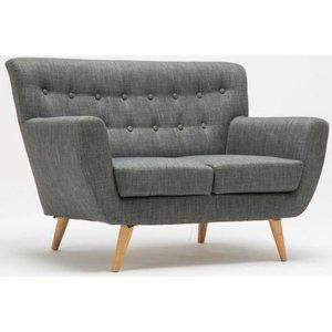 Birlea Furniture Birlea Loft Grey 2 Seater Fabric Sofa, Grey