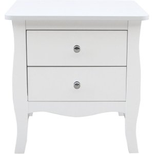 Birlea Furniture Birlea Paris White Large Bedside Table, White