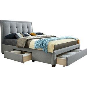 Birlea Furniture Birlea Shelby Grey Fabric Bed, Grey