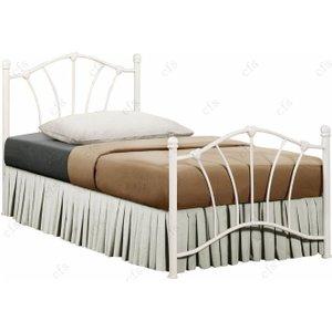 Birlea Furniture Birlea Sophia 3ft Cream Metal Bed