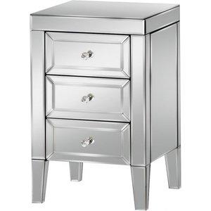 Birlea Furniture Birlea Valencia Mirrored Bedside Cabinet, Mirrored