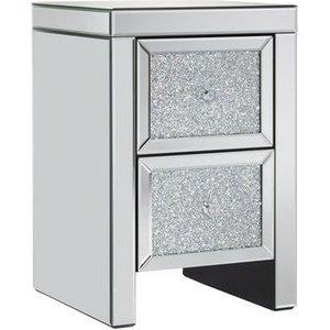Birlea Furniture Birlea Vienna Mirrored Bedside Cabinet