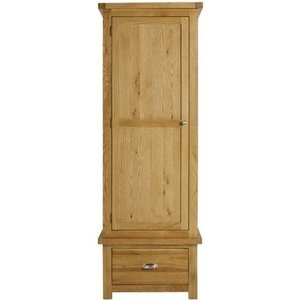 Birlea Furniture Birlea Woburn Oak 1 Door 1 Drawer Wardrobe, Rustic