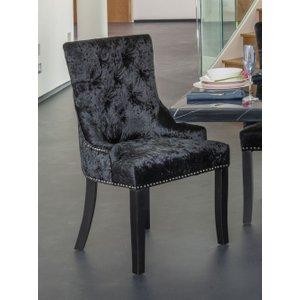 Urban Deco Black Crushed Velvet Knockerback Dining Chair
