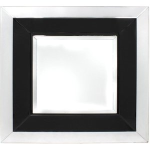 Deco Home Black Montague Square Wall Mirror - 90cm X 90cm, Black and Mirrored