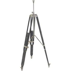 Light & Living Boudin Floor Lamp Tripod - Nickel And Grey Wood, Grey