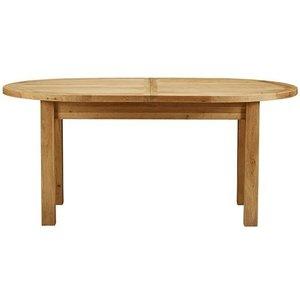 Charltons Furniture Bretagne Oak Oval Butterfly Extending Dining Table