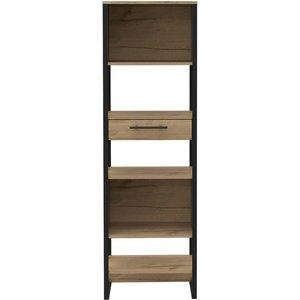 Cfs Value Brooklyn Melamine Narrow Bookcase - Bleached Pine Effect, Bleached Pine Effect