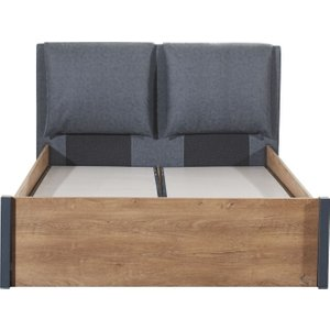 Minturk Broseley Walnut Storage Bed With Headboard