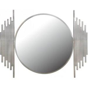 Deco Home Burgio Chrome Wall Mirror - 118cm X 90cm, Polished Steel