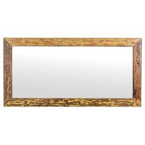 Besp Oak Cal Stadium Wooden Rectangular Mirror - 24cm X 36cm