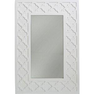 Deco Home California White Rectangular Wall Mirror - 60cm X 90cm, White