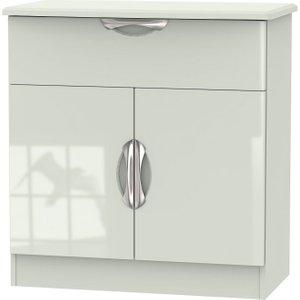 Welcome Furniture Camden High Gloss Kaschmir 2 Door 1 Drawer Narrow Sideboard