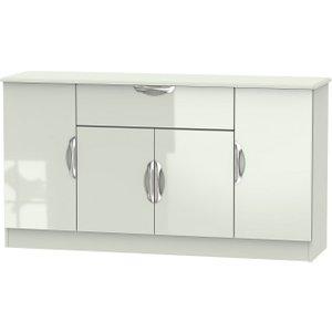 Welcome Furniture Camden High Gloss Kaschmir 4 Door 1 Drawer Wide Sideboard
