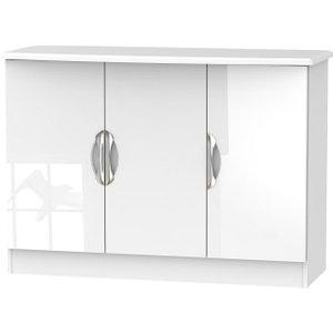 Welcome Furniture Camden High Gloss White 3 Door Narrow Sideboard