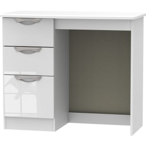 Welcome Furniture Camden High Gloss White Vanity Dressing Table, white