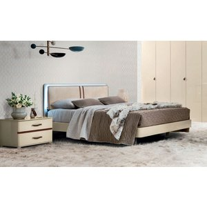 Camel Group Camel Altea Night High Gloss Italian Bed With Storage, High Gloss Polyester
