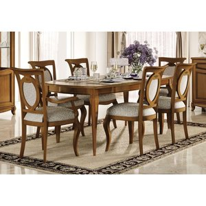 Camel Group Camel Fantasia Day Walnut Italian Extending Dining Table With 2 Chairs And 2 Armchairs, Walnut