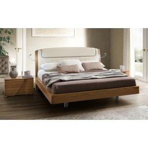 Camel Group Camel Luna Night Walnut Italian Sinkro 5ft King Size Bed With Storage, Walnut