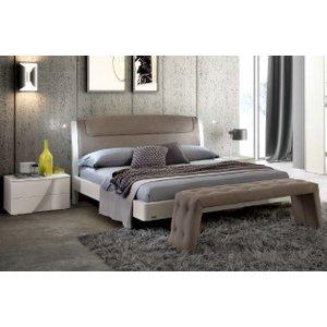 Camel Group Camel Luna Night White Ash Italian Sinkro 5ft King Size Bed With Teknic Storage, white