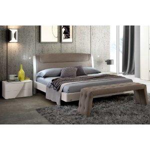 Camel Group Camel Luna Night White Ash Italian Sinkro 5ft King Size Bed With Storage, White Ash