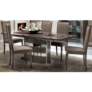Camel Group Camel Platinum Day Silver Birch Italian Butterfly Extending Dining Table, Silver Birch
