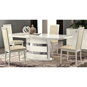 Camel Group Camel Roma Day White Italian Butterfly Extending Dining Table, white