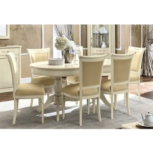 Camel Group Camel Torriani Day Ivory Italian Oval Extending Dining Table And Chairs, Ivory