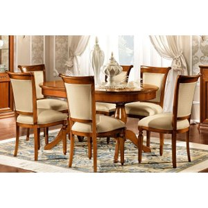 Camel Group Camel Torriani Day Walnut Italian Oval Extending Dining Table And 6 Chairs, Walnut