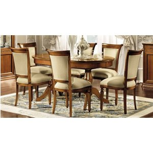 Camel Group Camel Torriani Day Walnut Italian Oval Extending Dining Table And Chairs, Walnut Veneer