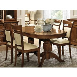 Camel Group Camel Treviso Day Cherry Wood Italian Oval Extending Dining Table And 6 Chairs, Cherry Wood