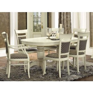 Camel Group Camel Treviso Day White Ash Italian Oval Extending Dining Table With 4 Chairs And 2 Armcha, White Ash