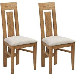 Annaghmore Capri Oak Dining Chair (pair), Rustic Oak