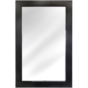 Deco Home Caria Dark Grey Walnut Rectangular Wall Mirror - 90cm X 138cm, Dark Grey Walnut