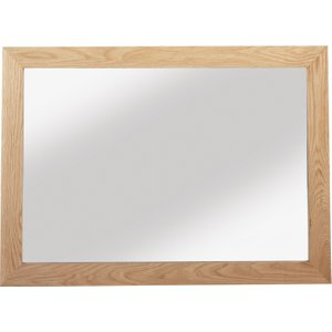 Hermitage Furniture Carlota Oak Rectangular Mirror - 105cm X 75cm, Natural Oak Matt Laquered