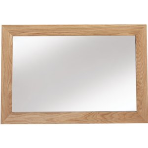 Hermitage Furniture Carlota Oak Rectangular Mirror - 90cm X 60cm, Natural Oak Matt Laquered