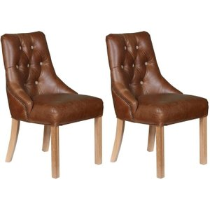 Carlton Furniture Carlton Additions Stanton Brown Leather Dining Chair (pair)