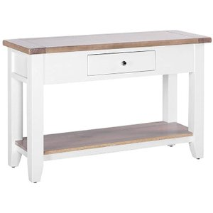 Besp Oak Chalked Oak And Pure White 1 Drawer Console Table