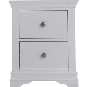Scuttle Interiors Chantilly Moonlight Grey Painted Bedside Cabinet, Moonlight Grey Painted