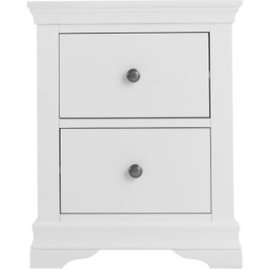 Scuttle Interiors Chantilly White Painted Bedside Cabinet, Classic White