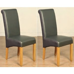 Annaghmore Charlene Tan Leather Dining Chair (pair)