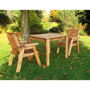 Charles Taylor 2 Seater Rectangular Garden Dining Set, Natural