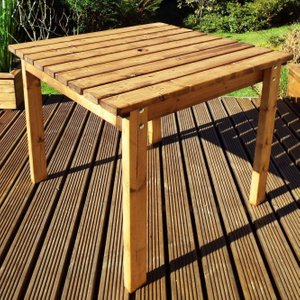 Charles Taylor 2 Seater Square Garden Table, Natural