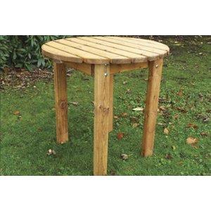 Charles Taylor Circular Bbq Round Garden Table, Natural