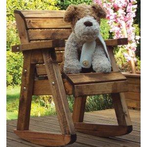 Charles Taylor Little Children Rocker Garden Chair, Natural
