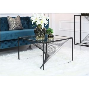 Deco Home Cheadle Black Metal And Glass Coffee Table