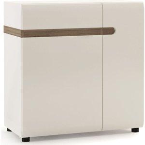 Furniture To Go Chelsea Wide Sideboard - Truffle Oak And High Gloss White