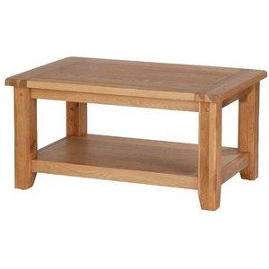 Hermitage Furniture Cherington Oak Coffee Table, Rustic Oak Matt Lacquer