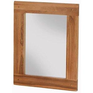 Hermitage Furniture Cherington Oak Rectangular Mirror - 75cm X 60cm, Rustic Oak Matt Lacquer