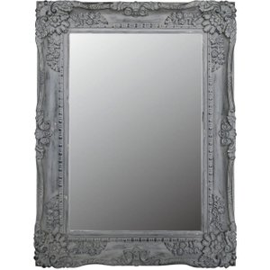 Deco Home Cheste Grey Rectangular Wall Mirror - 88.5cm X 119cm